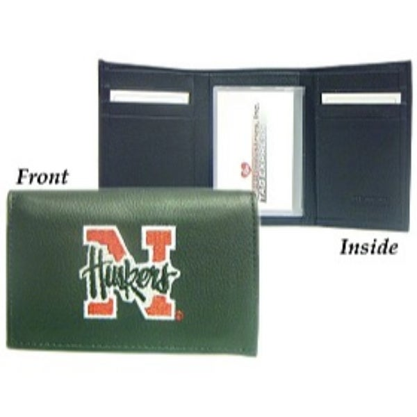 Shop Nebraska Cornhuskers Embroidered Leather Tri-Fold Wallet - Free  Shipping Today - Overstock.com - 22204797 d46e9b5d0