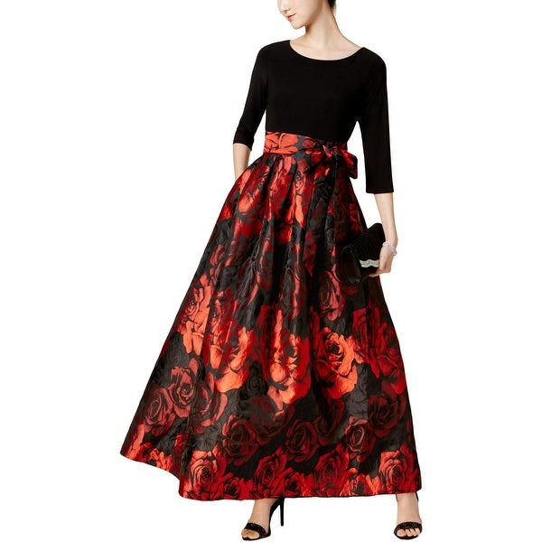 b5d9f23d2 Shop Jessica Howard Womens Evening Dress Floral Print Jacquard ...