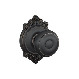 Schlage F10-GEO-BRK Passage Georgian Door Knobset with the Decorative Brookshire Rose - N/A