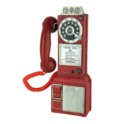 Vintage Look Red Replica Pay Phone Coin Bank