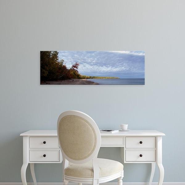 Easy Art Prints Panoramic Images's 'Trees at the lakeside, Lake Superior, Upper Peninsula, Michigan, USA' Canvas Art