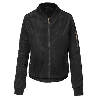NE PEOPLE Womens High Quality Classic Quilted Zip Up Bomber Jacket(BJ25)