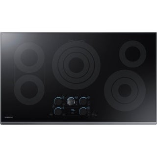 Samsung NZ36K7570R 36 Inch Wide Built-In Electric Cook Top with Wi-Fi Connectivity and Rapid Boil