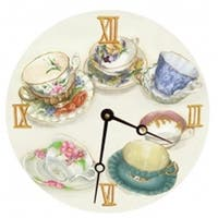 Lexington Studios 23066R Tea Cups Round Clock