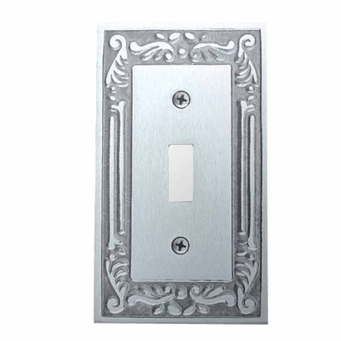 Victorian Switch Plate Single Toggle Chrome Solid Brass Renovator's Supply