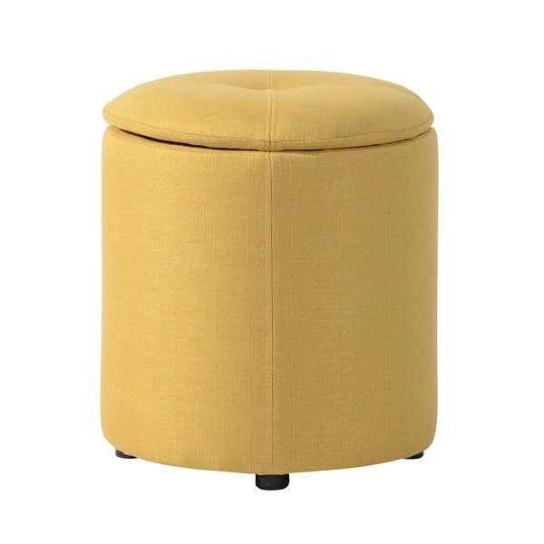 Copper Grove Fabric Upholstery Cylindrical Storage Ottoman. Opens flyout.