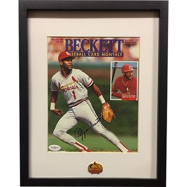 buy online 7168f 47af3 Ozzie Smith signed 1996 Beckett Baseball Card Monthly Magazine Custom  FramingJSA Hologram E53145 St