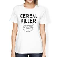 Cereal Killer Shirt Funny Halloween Tshirt Womens Cute Graphic Tee