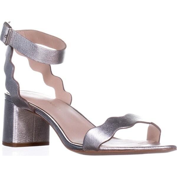 Loeffler Randall Emi Block Heel Sandals, Silver