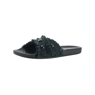 Jessica Simpson Womens Playah Slide Sandals Pool Fringe