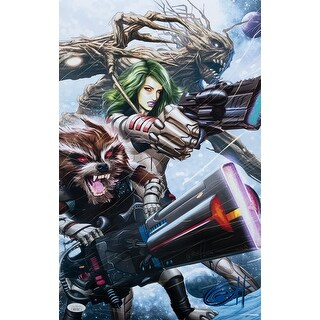 Guardians Of The Galaxy 11x17 Lithograph Signed By Greg Horn JSA