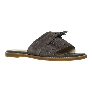 Hush Puppies Womens Keely Chrissie Dark Brown Slides Size 6.5
