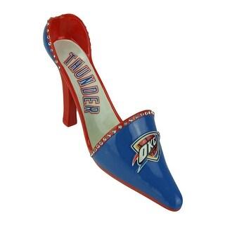 OKC Oklahoma City Thunder Classic High Heel Shoe Wine Bottle Holder - Blue