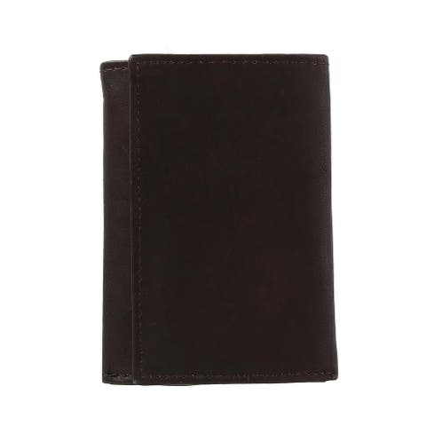 CTM® Men's Leather Key Case with Zipper Pocket - one size
