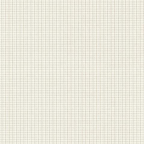 "Davis, Countryside Grey Houndstooth, 33' L X 20.5"" W, Wallpaper Roll"