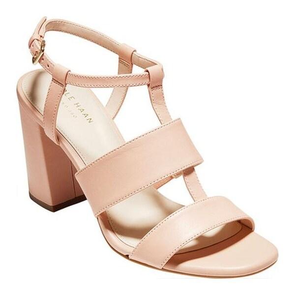 acbe4b60879 Cole Haan Women  x27 s Cherie Grand Block Heeled Sandal Mahogany Rose  Leather