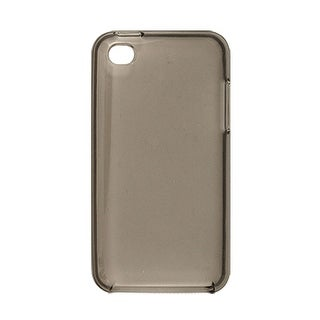 Plastic Skin Soft Back Cover Phone Case Gray for iPod Touch 4G