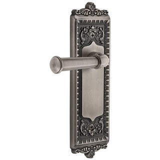 "Grandeur WINGEO_PSG_234  Windsor Solid Brass Rose Passage Door Lever Set with Georgetown Lever and 2-3/4"" Backset"