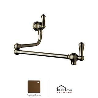 Rohl U.4799LS-2 Perrin and Rowe Wall Mounted Pot Filler with Metal Lever Handles