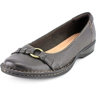 Clarks Pegg Alba Women Round Toe Leather Brown Loafer