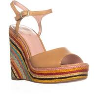 Kate Spade Dallie Espadrille Wedge Sandals, Natural Vacchetta - 8.5 us