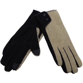 Women's Wool Gloves Accent Fingertips Touchscreen Texting, Fall Winter, Cell Phone Text