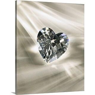 Premium Thick-Wrap Canvas entitled Heart-shaped diamond