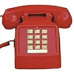 Cortelco 250047-Vba-20M Desk Phone With Volume - Red