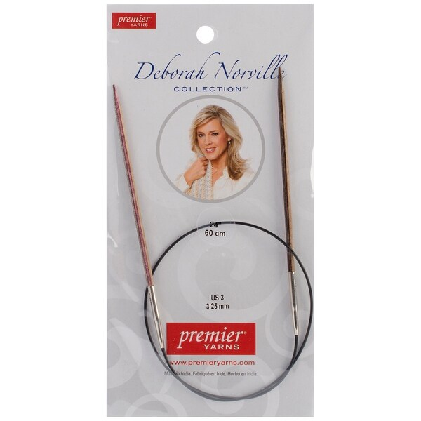"Deborah Norville Fixed Circular Knitting Needles 24""-Size 3/3.25mm"