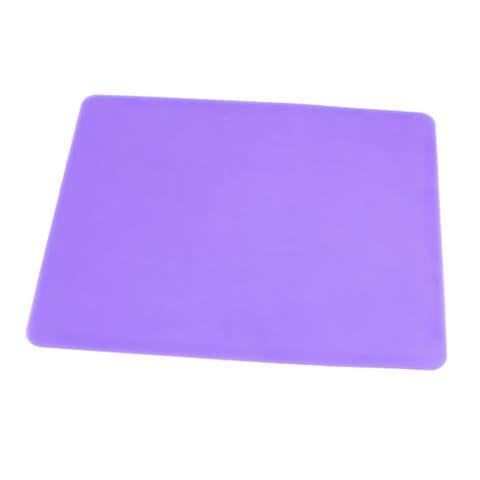 Unique Bargains Light Purple Silicone Optical Mouse Pad Mat 23cm x 19cm for PC Notebook