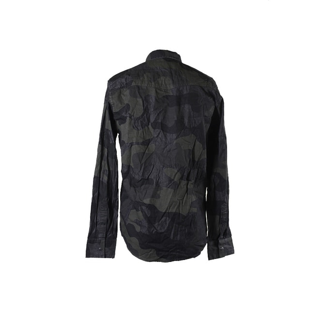 5139929c Shop American Rag Dark Green Supreme Camouflage Shirt S - Free Shipping On  Orders Over $45 - Overstock - 24166743