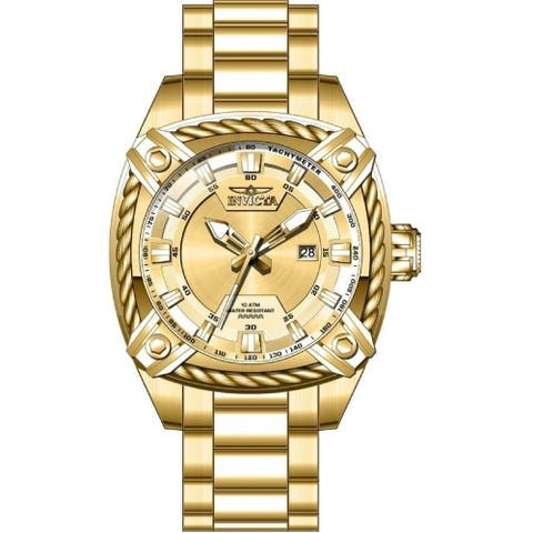 Invicta Men's 31385 'Bolt' Stainless Steel Watch - Gold-Tone