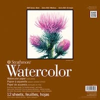 "Strathmore Watercolor Paper Pad 12""X12""-Cold Press 140Lb 12 Sheets"