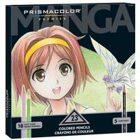 Prismacolor Premier Manga Colored Pencils, Fine Tip, Assorted Color, Set of 23