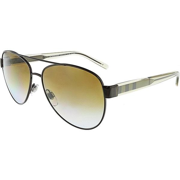bc5b37d18523 Burberry Women  x27 s Polarized BE3084-1212T5-57 Brown Aviator Sunglasses