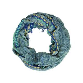 Collection Eighteen Women's Woven Stripe Loop Scarf