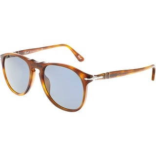 Persol Men's PO9649S-96/56-52 Brown Clubmaster Sunglasses
