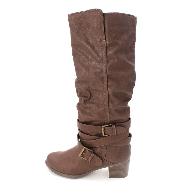 Just Fab Womens jf alex Closed Toe Mid-Calf Fashion Boots - 9