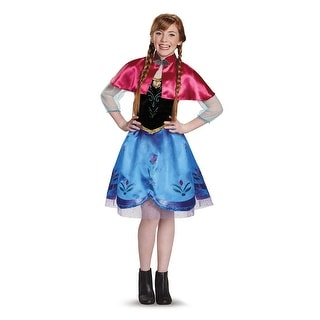 Frozen Tween Traveling Anna Halloween Costume - large (size 10-12)