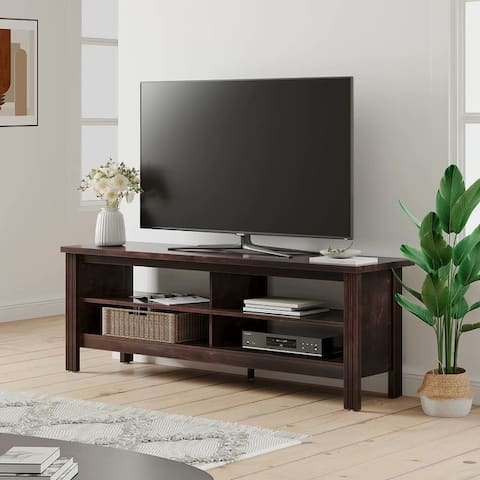 Farmhouse TV Stand for 65-75-inch TV Entertainment Center