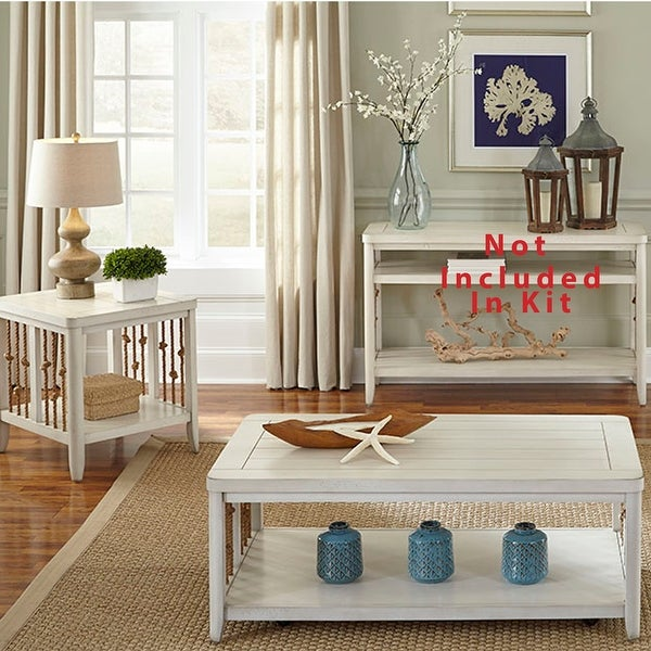 Dockside II White 3-piece Occasional Set. Opens flyout.