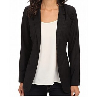 Sanctuary NEW Black Women's Size XS Pinstriped Notched Collar Jacket
