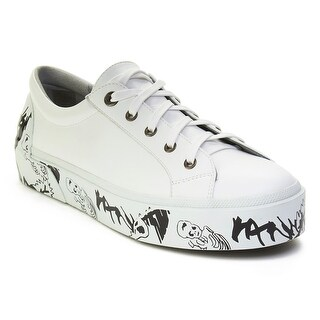 Lanvin Men's Leather Graffiti-Sole Derby Sneaker Shoes White