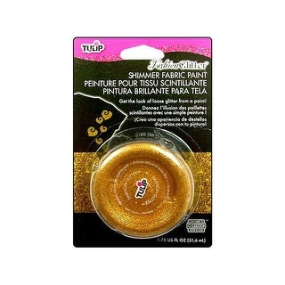 Tulip Fashion Glitter Shimmer Fab Paint Gold