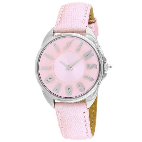 Just Cavalli Women's Logo Pink Dial Watch - JC1L008L0035 - One Size