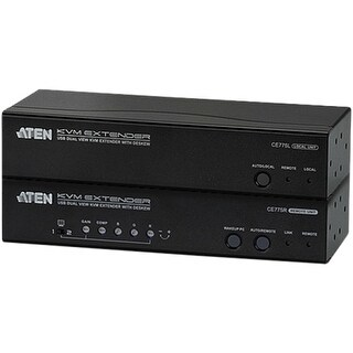 """Aten CE775 Aten USB Dual View KVM Extender with Deskew - 1 Computer(s) - 1 Local User(s) - 1 Remote User(s) - 984.25 ft Range -"