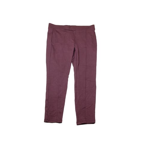 Style & Co Plus Size Dried Plum Seamed Leggings 22W