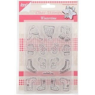 """Joy! Crafts Clear Stamps 4""""X6""""-Wintertime 01"""