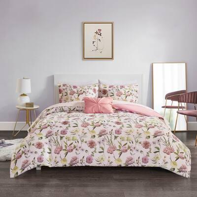 Sophia Blush Comforter and Sheet Set by Intelligent Design