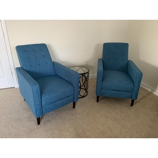 Mervynn Mid-century Fabric Recliner Club Chair (Set of 2) by Christopher Knight Home